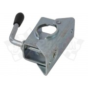 Trailer jockey wheel, pressed steel clamp (48 mm)