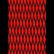 "Mat sheet ""Cut Diamond"" black on red"