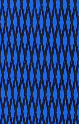 "Mat sheet ""Cut Diamond"" blue on black"