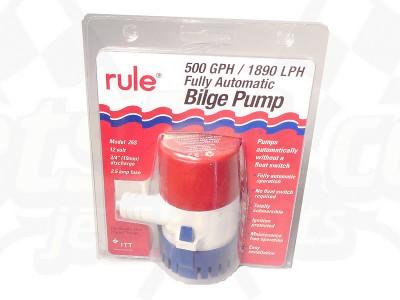 Bilge pump (500), sensing
