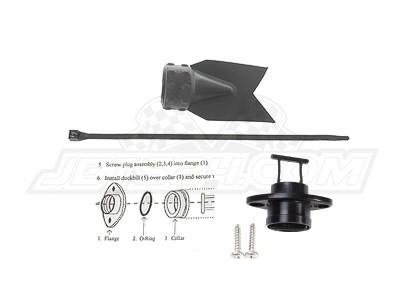 Universal billet quick drain assy, Quick drain flapper (black)