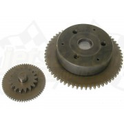 Starter idle gear assembly, starter drive, bendix, clutch