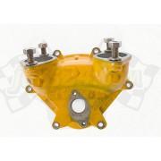 Oil pump flange, intake manifold