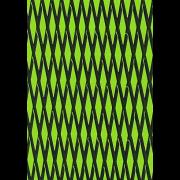 "Mat sheet ""Cut Diamond""  black on lime green"