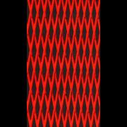 "Mat sheet ""Cut Diamond"" red on black"