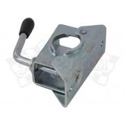 Trailer jockey wheel, pressed steel clamp (48 mm)